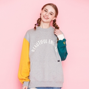 COLOR BLOCK SWEAT SHIRT GRAY