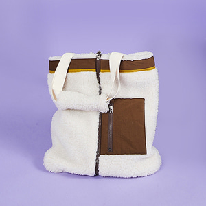 ZIPPER FLEECE BAG IVORY